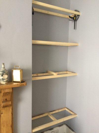 floating shelf frame